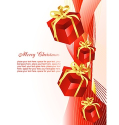 Christmas gift beautiful background vector image