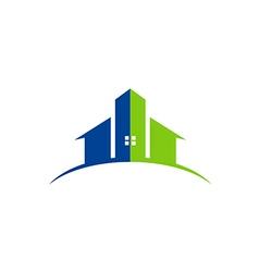 House building abstract construction logo vector