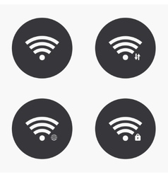 Modern wi fi icons set vector