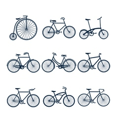 Bicycle icons3 vector