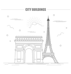 City buildings graphic template france paris vector