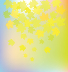 autumn colorful leaves on colorful background vector image vector image