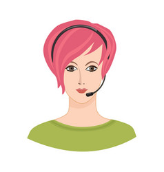 avatar icon female profile sign woman portrait vector image vector image