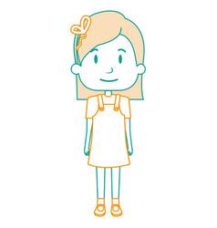 Beautiful little girl character vector