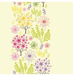 Blossoming trees vertical seamless pattern vector image