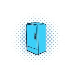 Blue fridge comics icon vector