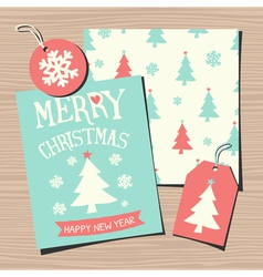 Christmas Templates Paper Collection vector image