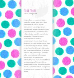 Color circles background vector image vector image