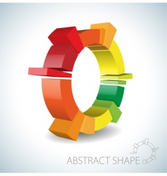 colorful abstract 3d shape vector image vector image