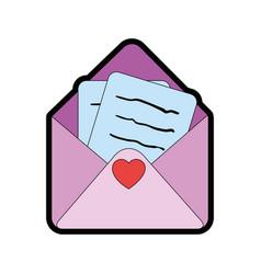 cute letter cartoon vector image vector image