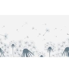 Dandelion field seamless background vector image vector image