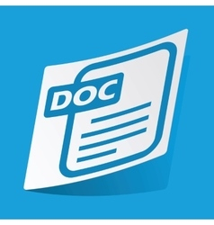 DOC file sticker vector image vector image