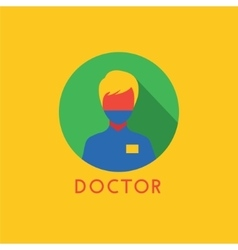 Doctor icon logo health tools or tooth vector