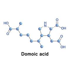domoic acid neurotoxin vector image vector image