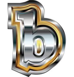 Fancy font Letter b vector image vector image