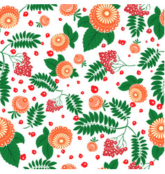 floral seamless pattern in slavic national style vector image
