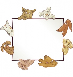 Frame with dogs vector