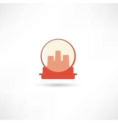 Glass sphere with city vector