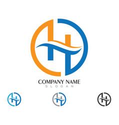 H letter logo business template vector