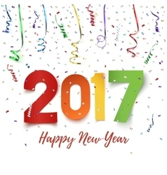 Happy new year 2017 celebration background vector
