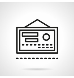 Health certificate black line icon vector image