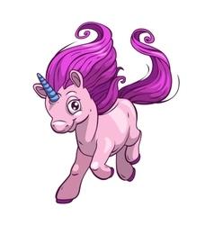 Little cute cartoon fantasy unicorn vector