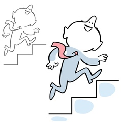 Man climbing stairs vector image