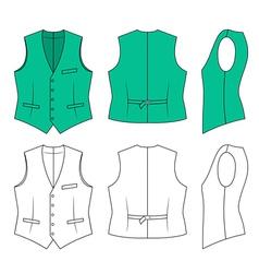 Man green waistcoat vector