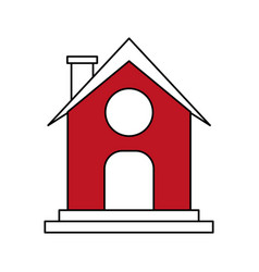 Red barn design vector