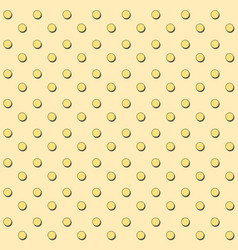 Seamless pattern with yellow circles and shadows vector