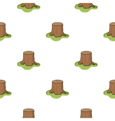 Tree stump icon in cartoon style isolated on white vector