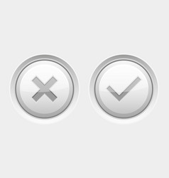 White round web buttons delete and submit vector