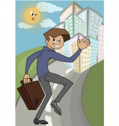 wicked businessman running vector image vector image