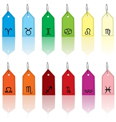 zodiacal tags vector image