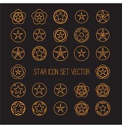 bright star icon set vector image