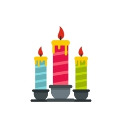 Festive candles icon flat style vector