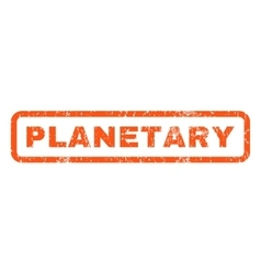 Planetary rubber stamp vector