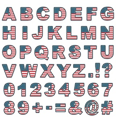 Stitched usa alphabet vector