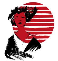 geisha  kimono vector image