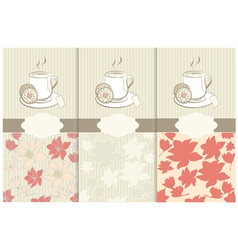Tea labels and place for text vector image