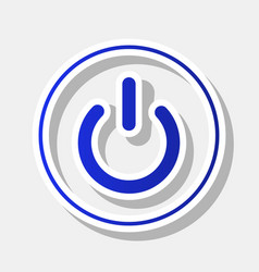 on off switch sign new year bluish icon vector image