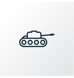 Tank outline symbol premium quality isolated vector