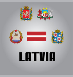 Official government elements of latvia vector
