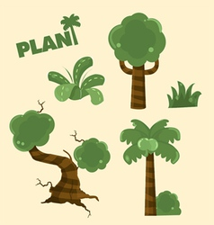 Wood plant cartoon vector