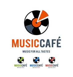 Music cafe logo vector
