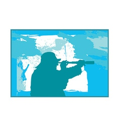 Fisherman silhouette vector