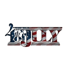 4th of july cut out us flag vector