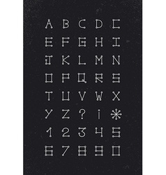 Alphabet font geometric set modern simple line vector image