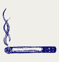 Burning cigarette vector image