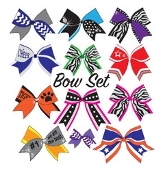 cheerleader bow set vector image